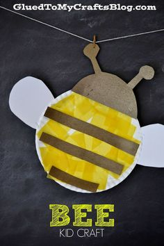 Preschool Crafts for Kids  Paper Plate #Bee Craft for kids.  #preschool #kidscraft