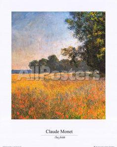 Oat Fields Landscapes Art Print - 40 x 50 cm