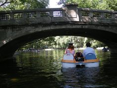 Paddle  boating in the beautiful Cismigiu Garden in Bucharest, Romania