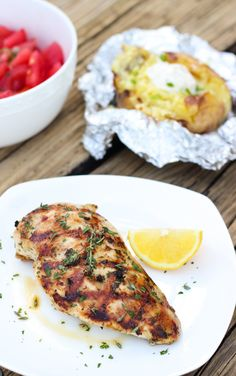 Lemon Herb Grilled Chicken Breasts