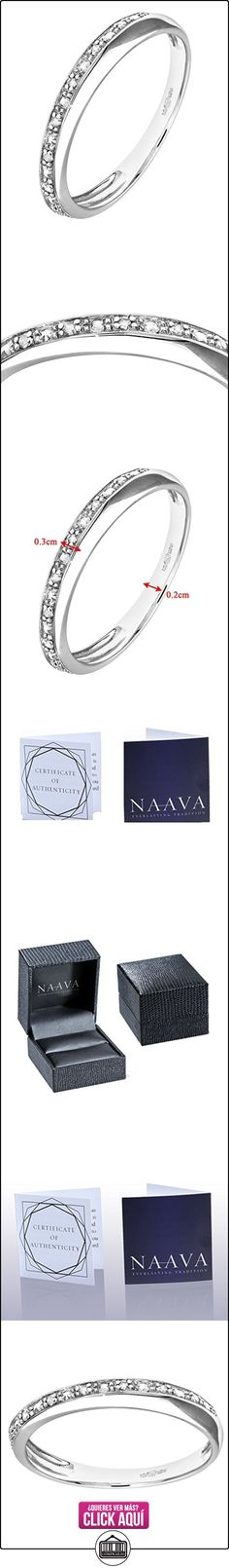 Bague - PR09832W-M - Anillo de mujer de oro blanco (9k) con 7 diamantes (talla: 13)  ✿ Joyas para mujer - Las mejores ofertas ✿ ▬► Ver oferta: https://comprar.io/goto/B005IA6TJS