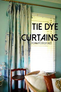 DIY Tie Dye Curtain Panels