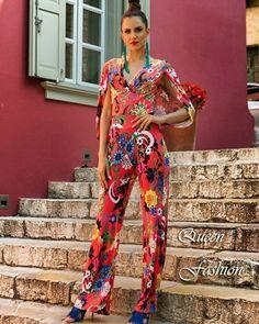 Ολόσωμη φόρμα με έθνικ στοιχεία για εντυπωσιακές εμφανίσεις ~ Το καλοκαίρι θέλει χρώμα και η Queen Fashion φροντίζει γι' αυτό!  #queenfashion #fashion #collection #summer #womensfashion #colors