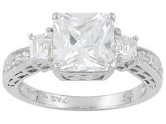 Bella Luce(R) 5.30ctw Rhodium Plated Sterling Silver Ring