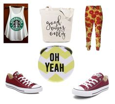 """""""good vibes"""" by annamarie-15 on Polyvore featuring Converse"""