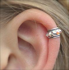 Ear Cuff - Rock Star - High Ear Cartilage - Sterling Silver - SINGLE SIDE. $20.00, via Etsy.