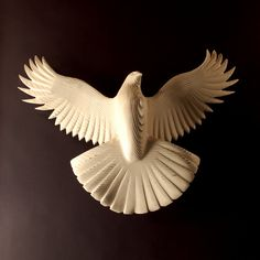 hand carved peace dove by Jason Tennant. #etsy