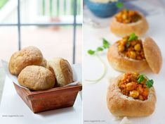 South African Bunny Chow � my vegetarian version with Chickpeas