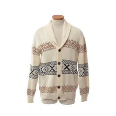 Vintage 70s Shawl Collar Cardigan Sweater by CkshopperVintage