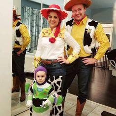 Inspiration & Accessories: DIY Toy Story Jessie Woody Buzz Lightyear Halloween Family Costume Idea