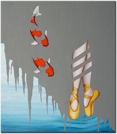 Een abstract geschilderd canvasschilderij van de Nederlandse top-kunstschilder Zenon Emmanuel.