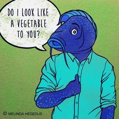 Vegan Art by Melinda (@memememelinda) on Instagram: FISH - Not a vegetable!