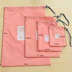 4 bolsas de viaje, impermeable, bolsa con cordón, para ropa sucia, ropa interior, bolsa de maquillaje | VIAJEROS AL BLOG