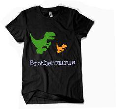 Dinosaurs kids' shirt Brothersaurus - Big brother shirt.- Black VB065 by DJammarMaternity on Etsy