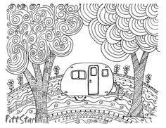 Instant Download  Doodled Retro Vintage Whimsical by PittStar