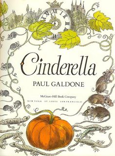 Cinderella title page by Paul Galdone