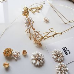 """""""Dainty crown 🥰 Perfect for weddings, racewear, bridal shower, birthday functions and special occasions. \nHair Accessories handmade in South Australia"""" Brenda Lee, How To Make Headbands, Laurel Leaves, Pin Hole, Big Flowers, Perfect For Me, Tiaras And Crowns, Race Day, South Australia"""