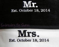 Bride And Groom Wedding Beach Towels With Bag Great Honeymoon Gift Personalized Bridal Shower