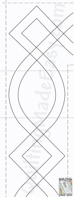 Fmq border template single line scallop includes corner for Quilting templates for borders