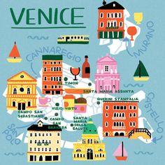 Map of Venice - Fuchsia MacAree