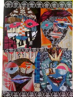 Creatively Fit is so excited to launch our new ARTreach! It is your own personal ART CLASS with a purpose! We are creating collage art to s. Face Collage, Collage Art, Collage Ideas, Art Ideas, Create Collage, Abstract Faces, Arts Ed, Elementary Art, Figure Painting