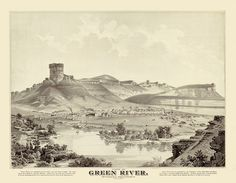 Green River Wyoming in 1875 printed by Imagerich on Etsy, $30.00