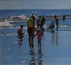 Beach Scenes by John Morris Irish Artist ~ Blog of an Art Admirer
