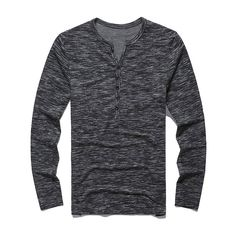 Mens fashion fall winter 2016 Men's fashion heathered long sleeve slim fit henley t-shirt. Modern Mens Fashion, Latest Mens Fashion, Paolo Conte, Latest Clothes For Men, Men Clothes, Women's Henley, Henley Shirts, Outfits Casual, Men's Outfits