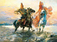 "Kazakh painter Dosbol Kassymov. ""The meeting"""