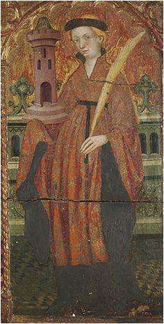Hopa. Santa Barbara. Luis Borrassá, Towards 1411-13, Fogg Museum, Harvard Art Museum, USA (detail)