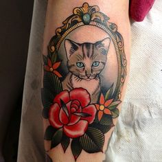 Cat tattoo when you love your kitty you want them with you forever. A nice way to commemorate their eternal & unconditional love -Rey