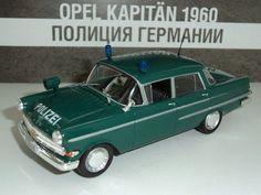 Opel Kapitan 1:43 Deagostini German police 1960 model & magazine №6 World Police