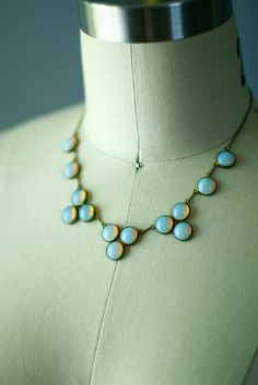 Antique Moonstone Opal Necklace