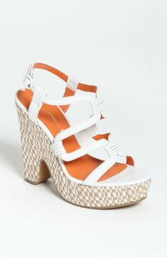 28331b5d0538 Cai Wedge Sandal - Lyst Brown Leather Sandals