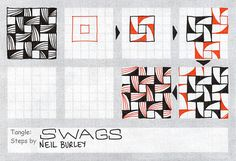 Swags - tangle pattern