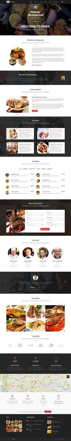 ZAIKA is perfect Responsive Restaurant HTML5 Template #HTML #RestaurantTemplate
