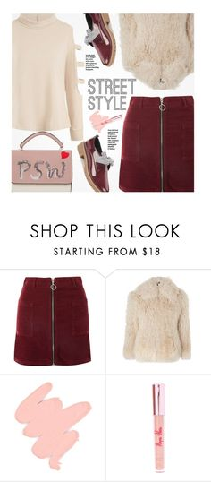 """""""Street Style"""" by beebeely-look ❤ liked on Polyvore featuring Topshop, Obsessive Compulsive Cosmetics, Poppin Hoez, StreetStyle, NYFW, outfit, sammydress and streetwear"""