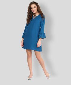 Yepme Marcie Shift Dress - Blue