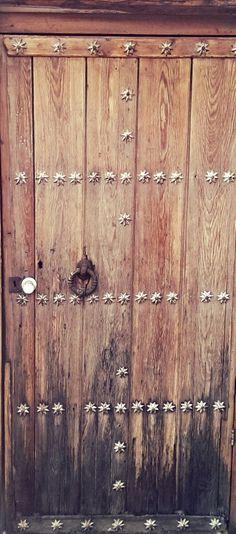 Antique wooden door