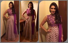 The lovely Preeti Desai wears another SVA anarkali at a recent event.