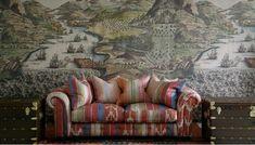 interior design London Design Week, Acrylic Chair, Vintage Bench, Custom Sofa, Fictional World, World Of Interiors, Roman Blinds, Scatter Cushions, Large Prints