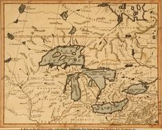 antique map great lakes - Google Search