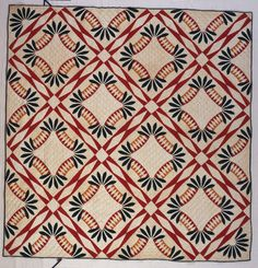 Love the sashing...vintage Tennessee Beauty, Whig's Defeat quilt by Eaton, Susan Furches