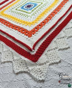 Have fun working a variety of beautiful crochet stitches in this square Sunny Day Blanket pattern. This project is great in 2 colors or a rainbow. Afghan Crochet Patterns, Crochet Stitches, Blanket Crochet, Crochet Afghans, Crochet Symbols, Back Post Double Crochet, Stitch Book, Yarn Tail, Knitted Headband
