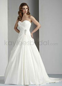 Kaylees Bridal - Taffeta A-Line Strapless Sweetheart Neckline Gathered Bodice Wedding Dress