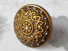 Hey, I found this really awesome Etsy listing at https://www.etsy.com/listing/170337261/antique-brass-crystal-knobs-glass