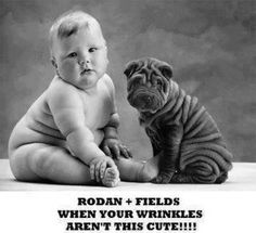Got not so cute wrinkles? Rodan and Fields Dermatologists Anti Age regimen and AMP MD roller can take care of that!