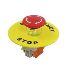 AC 660 V 10A Guscio di Plastica Rosso Segno Di Arresto Di Emergenza Fungo Pulsante Interruttore