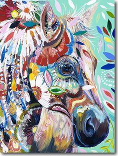 Oil Impasto by Starla Michelle Halmann - H for Horse