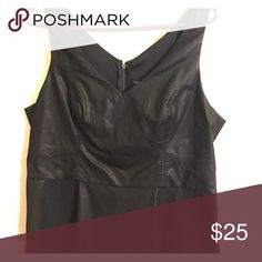 Torrid Pleather Peplum Top Never worn! Very flattering on the mid section and bust. torrid Tops Blouses